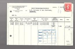 Magondeaux Huurrekening 'stamp Used As Fiscal' ? > Prinsen Van Glabbeek Helmond (c42-14a) - 1891-1948 (Wilhelmine)