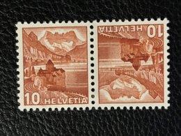 Schweiz Kehrdrucke Zumstein-Nr. K37 * Ungebraucht Mit Falz - Tête-Bêche