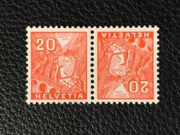 Schweiz Kehrdrucke Zumstein-Nr. K31 ** Postfrisch - Tête-Bêche