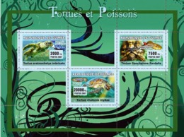 Guinea 2007 MNH - Turtles / Yortues, Fish / Poissons YT 2918-2920, Mi 4674-4676 - Guinea (1958-...)