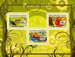 Guinea 2007 MNH - Peacocks / Paons, Turtles. YT 2921-2923, Mi 4683-4686 - Guinea (1958-...)