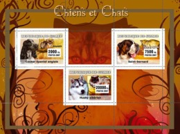 Guinea 2007 MNH - Dogs / Chiens, Cats / Chats. YT 2924-2926, Mi 4689-4691 - Guinea (1958-...)