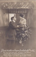AK Zwei Dunkler Augen Funkelnder Pracht... - Liebespaar - Gedicht - Ca. 1915 (44243) - Couples