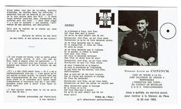 Souvenir Pieux - Pierre-Louis De CONINCK - Chef De Troupe à La 51è - C.S.O.R. Para-Commando / 1963 - Scoutisme - Padvinderij