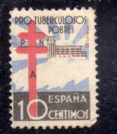 SPAIN ESPAÑA SPAGNA 1936 1939 CHARITY LABEL PRO TUBERCOLOSOS CENT. 10c MNH - 1931-50 Gebraucht