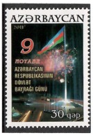 Azerbaijan 2011. National Flag Day. 1v: 30.   Michel # 897 - Azerbaiján