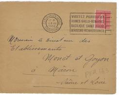 PERIGUEUX GARE FLIER 1932 DREYFUSS (PER163) En 1994 Cote 40F RUINES GALLO ROMAINE BASILIQUE SAINT FRONT ...DEVANT SEUL - Marcophilie (Lettres)