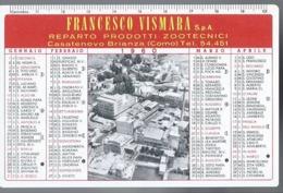 Calendarietto Francesco Vismara 1960 - Prodotti Zootecnici - Casatenovo Brianza - Como - Calendario - Small : 1941-60