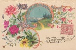 CARTE DE BONNE ANNEE. 10 11 07. NOUMEA POUR MARSEILLE. N° 92 - Briefe U. Dokumente