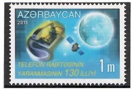 Azerbaijan 2011. Telephone Communication-130. 1v: 1m.  Michel # 903 - Azerbaiján