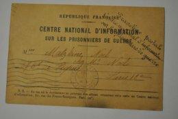 Franchise Postale Militaire Prisonniers De Guerre Soldat Matzkine Prisonnier Dans Un Camp Stalag VI G N° 5381 - Autres