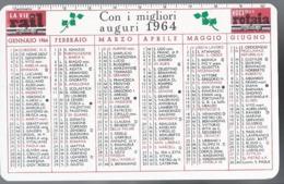 Calendarietto Voci Della Rotaia - Le Vie Rail 1964 - Calendario - Calendriers