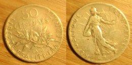Semeuse - 50 Centimes 1898 - Frankreich