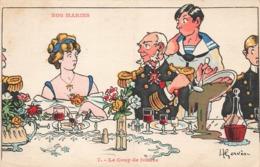Illustrateur H. Gervese Illustration Nos Marins Le Coup De Foudre - Gervese, H.
