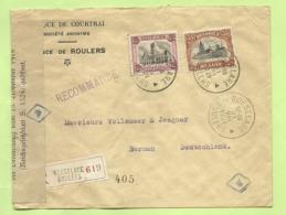 142+182 (Dendermonde) Brief Aangetekend Stempel ROESELARE, Economische Censuur GEOFFNET / REICHSFINANZVERWALTUNG (B454) - Covers & Documents