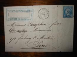 Lettre GC 2107 Louvres Seine Et Oise Avec Correspondance - 1849-1876: Période Classique