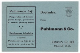 1930s YUGOSLAVIA, PUHLMANN AND CO, TEE AND INHALER, ADVERTISEMENT - Medicine