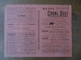 BAVAY CINEMA REXY 6 ET 7 FEVRIER 1937 SUR LA SCENE BECASSINE ET SA TROUPE,A L'ECRAN J'ETAIS UNE ESPIONNE (HEROÏNE BELGE - Programmes