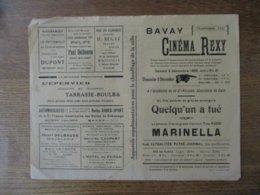 BAVAY CINEMA REXY 5 ET 6 DECEMBRE 1936 QUELQU'UN A TUE FILM POLICIER ET MARINELLA PREMIER FILM DE TINO ROSSI - Programmes