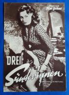 "SOPHIA LOREN / Peppino De Filippo Im Film ""Drei Sünderinnen"" # Altes IFB-Filmprogramm # [19-2923] - Magazines"
