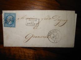 Lettre GC 2084 Lorient Morbihan - 1849-1876: Période Classique