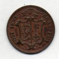 Suisse Canton GENEVE, 5 Centimes, Billon, 1847, KM #133 - Schweiz