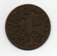 Suisse Canton GENEVE, 10 Centimes, Billon, 1844, KM #128 - Schweiz