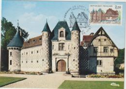 Carte-Maximum FRANCE N° Yvert 2403  (Château De St Germain De Livet) Obl Ill 1er Jour (Ed Combier 0051) - 1980-89