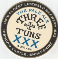 THREE TUNS BREWERY (BISHOPS CASTLE, ENGLAND) - XXX PALE ALE - PUMP CLIP FRONT - Signs