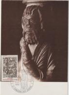 Carte-Maximum FRANCE N° Yvert 2404  (NOTRE DAME EN VAUX - Un PROPHETE) Obl Sp Ill 1er Jour (Ed Combier 40.86) - 1980-89