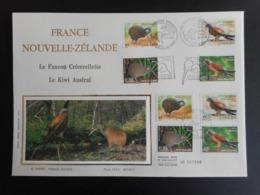 FDC Grand Format - France / Nouvelle Zélande, Les Oiseaux, Oblitération 4/11/2000 - FDC