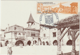 CARTE  MAXIMUM  FRANCE  N° Yvert  2405 (MONPAZIER)  Obl Sp Ill 1er Jour (Ed Imprimerie Contact) - 1980-89