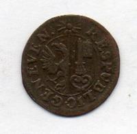 Suisse Canton GENEVE, 6 Deniers, Billon, 1726, KM #65 - Schweiz