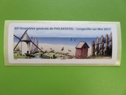 Vignette LISA Vierge - 65ème Assemblée Générale De PHILAPOSTEL - Longeville-Sur-Mer 2017 - Moulin à Vent - 2010-... Vignettes Illustrées