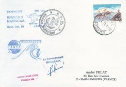 """TAAF - Lettre """"Marion-Dufresne"""" Avec Timbre France N°3019 Iles Sanguinaires - Cachet Manuel Capetown - 18/10/1996 - Terres Australes Et Antarctiques Françaises (TAAF)"""