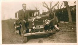 AUTO AUTOMOBILE VOITURE CAR - DODGE Victory Six 6 And Couple - Photo Velox 11x7cm 1920' - Automobiles