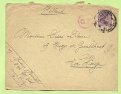 140 Op Brief PMB 4 Naar La Haye (Holland) Stempel  C.F. (Rose !!) (censuur / Folkestone)  (XB1252) - Army: Belgium