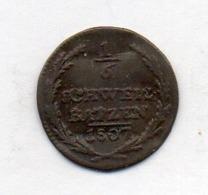 Suisse Canton GRAUBUNDEN, 1/6 Batzen, Billon, 1807, KM #5 - Schweiz