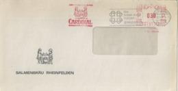 "Motiv Brief  ""Salmenbräu, Rheinfelden""  (Freistempel CARDINAL)         1975 - Storia Postale"