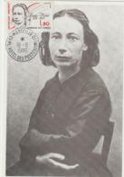 CARTE  MAXIMUM  FRANCE  N° Yvert  2408 (Louise MICHEL)  Obl Sp Marseille (Ed L'Imprimerie) - Cartes-Maximum