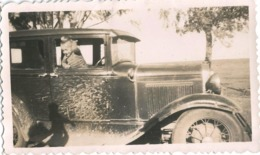 AUTO AUTOMOBILE VOITURE CAR - Old Car 1920' Splashed By Mud And Baby - Photo 11x7cm 1920' - Automobiles