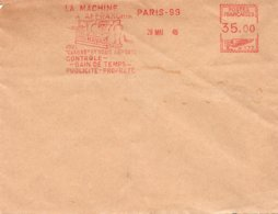 EMA 26 Mai 49 - HAVAS - La Machine à Affranchir Classe Et Apporte Gain De Temps Publicité Propreté / HAVAS Adoptée PTT - Marcofilia (sobres)