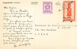 Santé Pub Publicité Novalgine Medicaments Hoechst Leopoldville Tresseuse + Timbres Congo Belge Carte Pharmaceutique - Salute