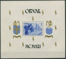 Belgien 1941 Wiederaufbau Abtei Orval Block 12 Postfrisch (C91588) - Blocks & Sheetlets 1924-1960