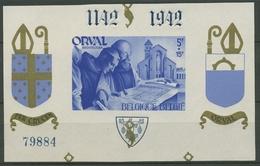 Belgien 1941 Wiederaufbau Abtei Orval Block 11 III.II. Zudr. Postfrisch (C91587) - Blocks & Sheetlets 1924-1960