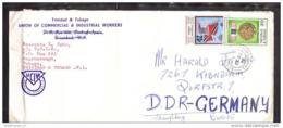 TRINIDAD & TOBAGO Brief Cover Lettre - Gewerkschaft - 236 304 Flagge - Kolibri Medaille (Scan)(13006) - Trinidad & Tobago (1962-...)