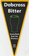 GREENFIELD REAL ALE BREWERY (SADDLEWORTH, ENGLAND) - DOBCROSS BITTER - PUMP CLIP FRONT - Uithangborden