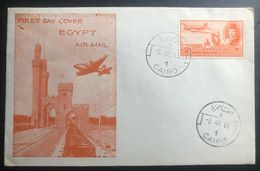 1947 Cairo Egypt First Day Cover FDC New Airmail Stamp Issue - Unclassified