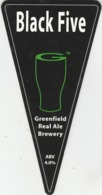 GREENFIELD REAL ALE BREWERY (SADDLEWORTH, ENGLAND) - BLACK FIVE - PUMP CLIP FRONT - Uithangborden