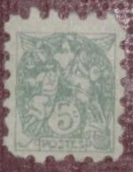Poste Enfantine 5 Centimes Vert Type Blanc - Timbre (jeu De La Poste) - Altri